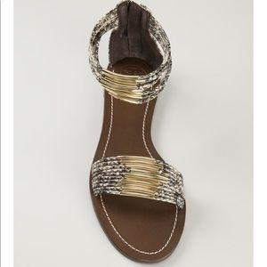 Tory Burch snake skin embellished sandal